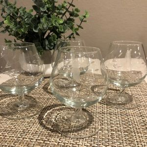 PRINCESS HOUSE Crystal Brandy Glasses
